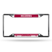 Oklahoma Sooners License Plate Frame Chrome EZ View