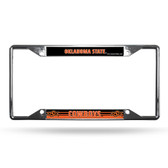 Oklahoma State Cowboys License Plate Frame Chrome EZ View