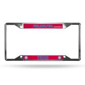 Philadelphia 76ers License Plate Frame Chrome EZ View
