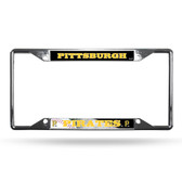 Pittsburgh Pirates License Plate Frame Chrome EZ View