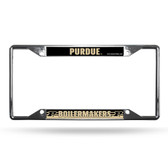 Purdue Boilermakers License Plate Frame Chrome EZ View