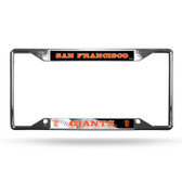 San Francisco Giants License Plate Frame Chrome EZ View