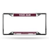 Texas A&M Aggies License Plate Frame Chrome EZ View