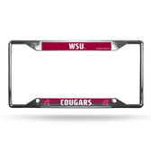 Washington State Cougars License Plate Frame Chrome EZ View