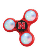 Nebraska Cornhuskers Spinners 3 Prong LED Style