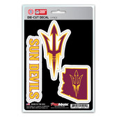 Arizona State Sun Devils Decal Die Cut Team 3 Pack