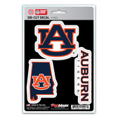 Auburn Tigers Decal Die Cut Team 3 Pack