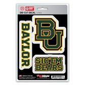 Baylor Bears Decal Die Cut Team 3 Pack
