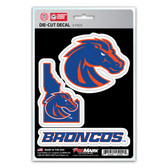 Boise State Broncos Decal Die Cut Team 3 Pack