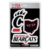 Cincinnati Bearcats Decal Die Cut Team 3 Pack