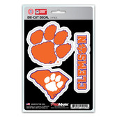 Clemson Tigers Decal Die Cut Team 3 Pack