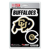 Colorado Buffaloes Decal Die Cut Team 3 Pack