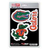 Florida Gators Decal Die Cut Team 3 Pack