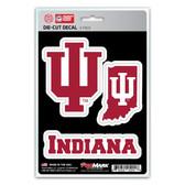 Indiana Hoosiers Decal Die Cut Team 3 Pack