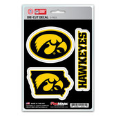 Iowa Hawkeyes Decal Die Cut Team 3 Pack