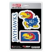 Kansas Jayhawks Decal Die Cut Team 3 Pack