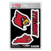 Louisville Cardinals Decal Die Cut Team 3 Pack