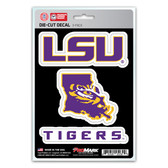 LSU Tigers Decal Die Cut Team 3 Pack
