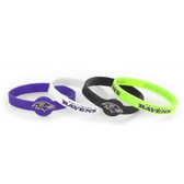 Baltimore Ravens Bracelets - 4 Pack Silicone