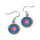 Chicago Cubs Earrings Round Design