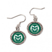 Colorado State Rams Earrings Round Style