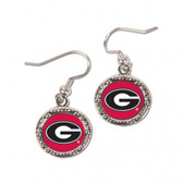 Georgia Bulldogs Earrings Round Style