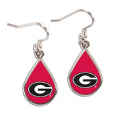Georgia Bulldogs Earrings Tear Drop Style