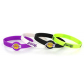 Los Angeles Lakers Bracelets - 4 Pack Silicone