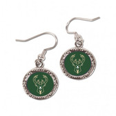 Milwaukee Bucks Earrings Round Style