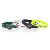 Minnesota Wild Bracelets - 4 Pack Silicone