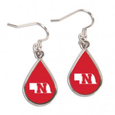 Nebraska Cornhuskers Earrings Tear Drop Style
