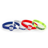 New York Giants Bracelets - 4 Pack Silicone