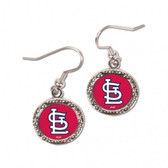 St. Louis Cardinals Earrings Round Design