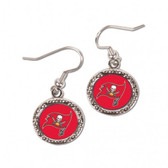Tampa Bay Buccaneers Earrings Round Style
