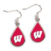 Wisconsin Badgers Earrings Tear Drop Style