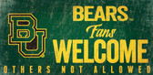 Baylor Bears Wood Sign Fans Welcome 12x6