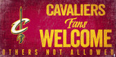 Cleveland Cavaliers Wood Sign Fans Welcome 12x6