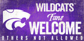 Kansas State Wildcats Wood Sign Fans Welcome 12x6