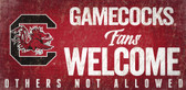 South Carolina Gamecocks Wood Sign Fans Welcome 12x6