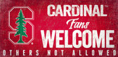 Stanford Cardinal Wood Sign Fans Welcome 12x6