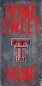 Texas Tech Red Raiders Wood Sign - Home Sweet Home 6x12