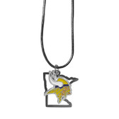Minnesota Vikings Necklace State Charm