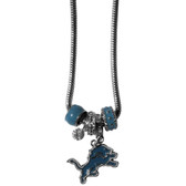 Detroit Lions Necklace - Euro Bead