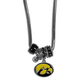 Iowa Hawkeyes Necklace - Euro Bead