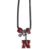 Nebraska Cornhuskers Necklace - Euro Bead