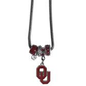 Oklahoma Sooners Necklace - Euro Bead