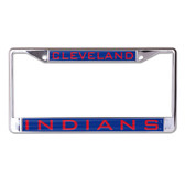 Cleveland Indians License Plate Frame - Inlaid