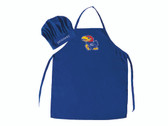 Kansas Jayhawks Apron and Chef Hat Set
