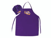 LSU Tigers Apron and Chef Hat Set