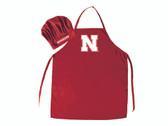 Nebraska Cornhuskers Apron and Chef Hat Set